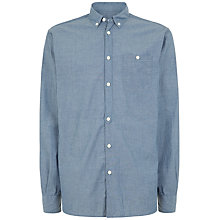 Buy Jaeger Chambray Regular Fit Shirt, Chambray Online at johnlewis.com