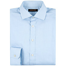 Buy Jaeger Micro Check Modern Shirt, Blue Online at johnlewis.com