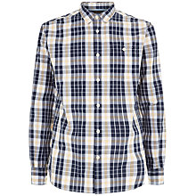 Buy Jaeger Graphic Check Slim Fit Shirt, Navy Online at johnlewis.com