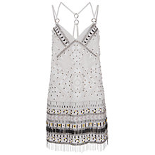 Buy French Connection Cerro Beaded Dress, Porcelain Online at johnlewis.com