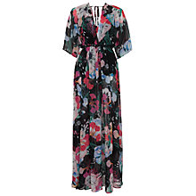 Buy French Connection Floral Reef Chiffon V-Neck Maxi Dress, Black Multi Online at johnlewis.com
