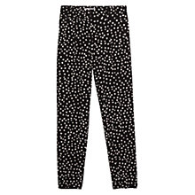 Buy Mango Circle Print Trousers, Black Online at johnlewis.com