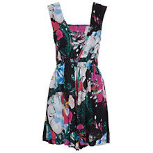 Buy French Connection Floral Reef Playsuit, Black Multi Online at johnlewis.com