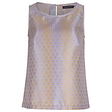 Buy Sugarhill Boutique Rita Jacquard Sleeveless Shell Top, Blue/Gold Online at johnlewis.com