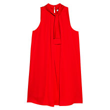 Buy Mango Bow Dress, Bright Red Online at johnlewis.com