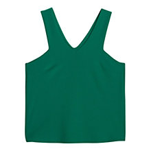 Buy Mango V-Neck Top, Bright Green Online at johnlewis.com