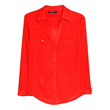 Buy Mango Chest Pocket Cotton Shirt Online at johnlewis.com