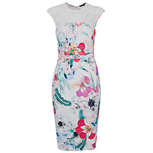 Buy French Connection Floral Reef Dress, Summer White Multi Online at johnlewis.com