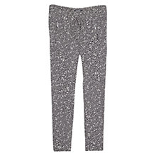 Buy Mango Baggy Printed Trousers, Black Online at johnlewis.com