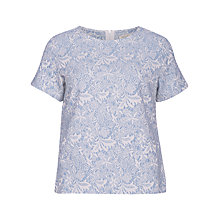 Buy Sugarhill Boutique Floral Jacquard Tee, Blue Online at johnlewis.com