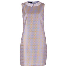 Buy Sugarhill Boutique Rita Jacquard Dress, Blue/Gold Online at johnlewis.com