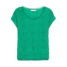 Buy Mango Lace T-Shirt Online at johnlewis.com