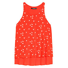 Buy Mango Printed Double-Layer Top, Dark Orange Online at johnlewis.com