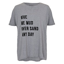 Buy French Connection Mud Slogan T-Shirt, Grey Melange Online at johnlewis.com