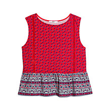Buy Mango Ruffle Printed Cotton Top Online at johnlewis.com