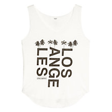 Buy Mango Printed Message Vest, Natural White Online at johnlewis.com