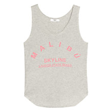 Buy Mango Sleeveless Message T-shirt Online at johnlewis.com