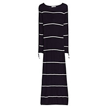 Buy Mango Premium Striped Maxi Dress, Navy Online at johnlewis.com