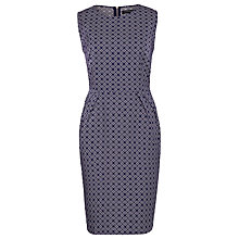 Buy Sugarhill Boutique Tile Jacquard Dress, Navy/Cream Online at johnlewis.com