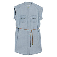Buy Mango Cotton Blend Shirt Dress, Open Blue Online at johnlewis.com