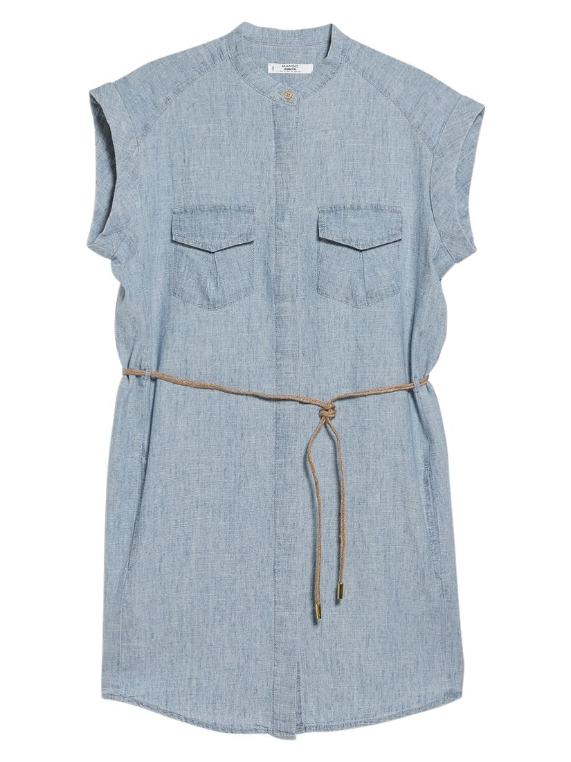 mango cotton blend shirt dress open blue, mango, cotton, blend, shirt, dress, open, blue, 12|10|8, women, womens dresses, 1933481