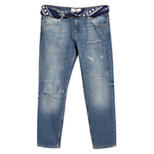 Buy Mango Cropped Bali Jeans, Open Blue Online at johnlewis.com