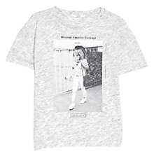 Buy Mango Printed T-Shirt, Light Pastel Grey Online at johnlewis.com