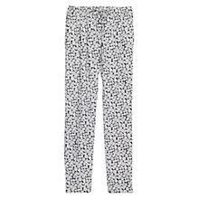 Buy Mango Printed Flowy Trousers, Light Beige Online at johnlewis.com