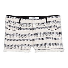 Buy Mango Textured Cotton Shorts, Light Beige Online at johnlewis.com