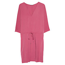 Buy Mango Drawstring Waist Dress, Medium Pink Online at johnlewis.com
