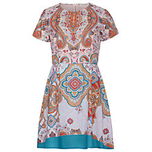 Buy Sugarhill Boutique Paisley Border Print Fit and Flair Dress, Multi Online at johnlewis.com
