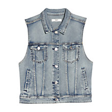 Buy Mango Light Denim Gilet, Open Blue Online at johnlewis.com