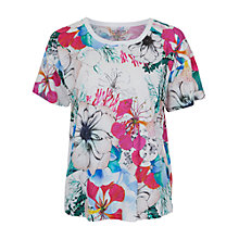 Buy French Connection Floral Reef Top, Summer White/Multi Online at johnlewis.com