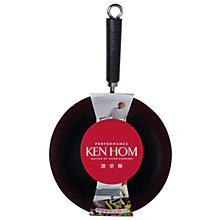 Buy Ken Hom Non-Stick Carbon Steel Performance Wok, 28cm Online at johnlewis.com