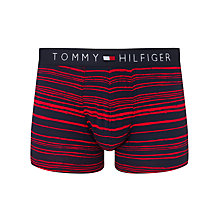 Buy Tommy Hilfiger Paint Striped Trunks, Red/Blue Online at johnlewis.com