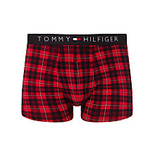 Buy Tommy Hilfiger Flag Check Trunks, Red//Black Online at johnlewis.com