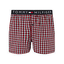 Buy Tommy Hilfiger Check Woven Boxer Shorts, Red Online at johnlewis.com