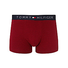 Buy Tommy Hilfiger Stripe Stretch Cotton Trunks, Red Online at johnlewis.com