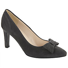 Buy Peter Kaiser Olivia Suede Bow Court Shoes, Grey Online at johnlewis.com