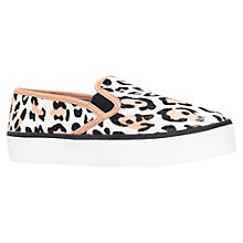 Buy Carvela Lux Flatform Slip On Trainers, Leopard Pony Online at johnlewis.com