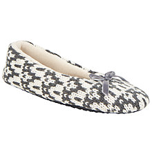 Buy John Lewis Patterned Ballerina Slippers Online at johnlewis.com