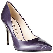 Buy Peter Kaiser Nuria Patent Leather Pointed Stiletto Court Shoes, Purple Online at johnlewis.com