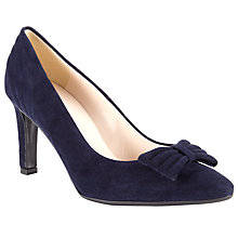 Buy Peter Kaiser Olivia Suede Bow Court Shoes, Navy Online at johnlewis.com