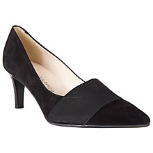 Buy Peter Kaiser Beka Pointed Court Shoes, Black Online at johnlewis.com