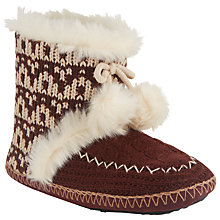 Buy John Lewis Printed Pom Pom Slipper Boots Online at johnlewis.com