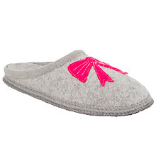 Buy John Lewis Mule Bow Wool Slippers, Grey Online at johnlewis.com