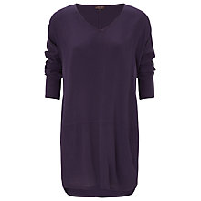 Buy Phase Eight Joey V-Neck Tunic Dress, Blackberry Online at johnlewis.com