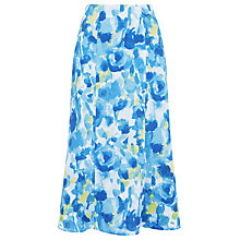 Buy Precis Petite Linen Print Panel Skirt, Aqua Online at johnlewis.com