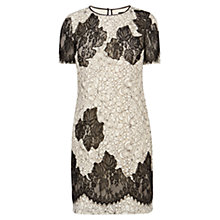 Buy Karen Millen Fine Lace Applique Patchwork Dress, Black Multi Online at johnlewis.com
