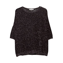 Buy Mango Metallic Thread Jumper, Black Online at johnlewis.com